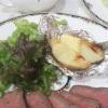 【ハーブ料理】イタリアンパセリの茎も使える「簡単ローストビーフ」と「ベイクドポテト」