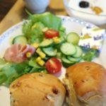 コストコのウォールナッツロールで朝食♪自家製カスピ海ヨーグルトにはプルーン&マンゴージャム